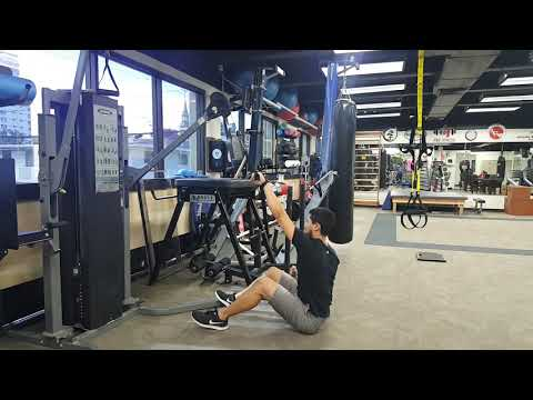 Cable Alternating Seated High Row