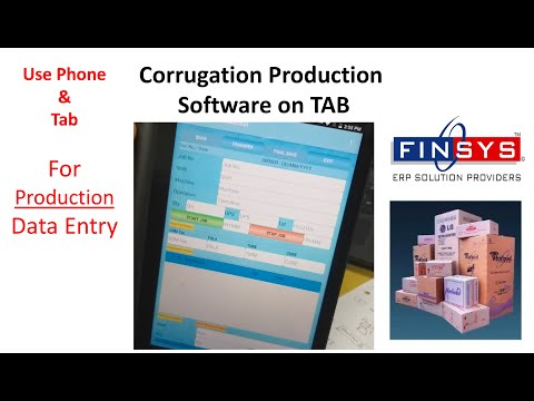 Use Mobile Phone (or Tab) for Corrugation Production Entries ..by Finsys ERP