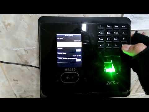 Uso de Biométrico (ZKTeco MB360) - Configuración