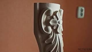 Видео - Мебельная резная ножка l-Charlotte-r2