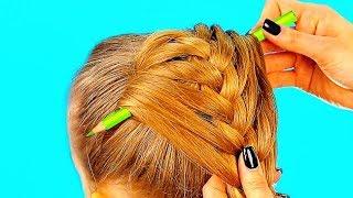Смотреть онлайн Три легкие прически для девочки на длинные волосы