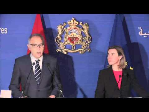 Joint press point by Federica Mogherini and Moroccan Foerign Minister Salaheddine MEZOUAR