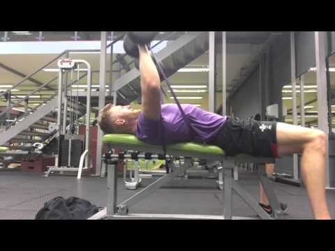 Resistance band dumbbell bench press tutorial