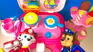 Best Learning Colors Video for Children -  Paw Patrol Cooking in Kitchen with Ice Cream Treats