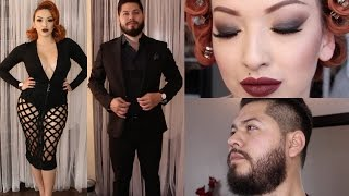 Dark Night Party | Couples Get Ready With Me/Us!