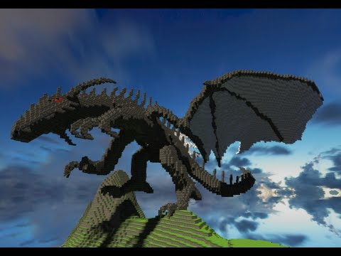 My First 3D Dragon Minecraft Project