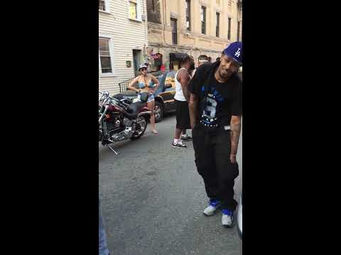 Dude try's to punk a skinny kid In front of his girl but gets punked by a guy his own size