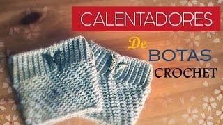 CALENTADORES Para Botas A CROCHET(diestro) - Crochet Boot Cuff (English Subtitles)