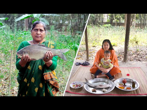 Katla Fish Kosha Cooking Recipe by Village Food Life
