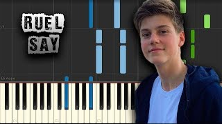 Ruel   Say   [Piano Tutorial] (Synthesia) (Download MIDI + PDF Scores)