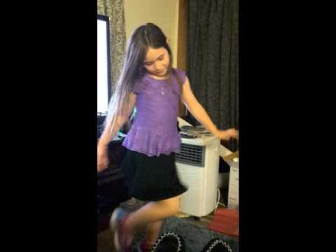 My 7 year old Alyssa Dancing 3 April 2016