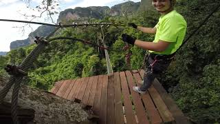 preview picture of video 'Krabi Tree Top Adventure Park - Red course'