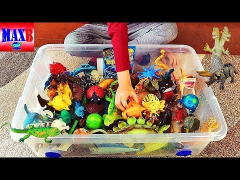 Box Full of insect animal Toys ! Scatola piena di insetti animali giocattoli