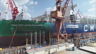 VIDEO: CMA-CGM launches world's largest LNG-powered containership