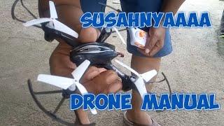 Belajar menerbangkan drone mini dengan remote manual untuk pemula