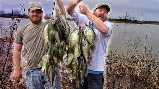 EPIC Crappie Fishing Rain Runoff from the BANK