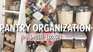 HOW TO ORGANIZE A SMALL PANTRY | PANTRY ORGANIZATION | CLEANING WITH KARI