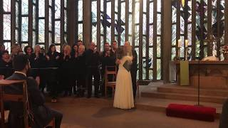 Wedding suprise in church - Husband sings in a country churchyard for his wife