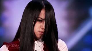 Сакред Риана из фильма ужасов на шоу талантов! Русские субтитры  Sacred Riana AGT subtitles