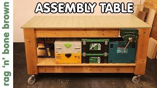 Making An Assembly Table Frame Plus Vice Restoration