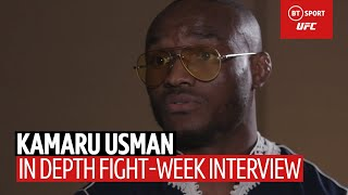 Kamaru Usman on growing up in Nigeria, and unleashing an 'African lion' on Colby at UFC 245