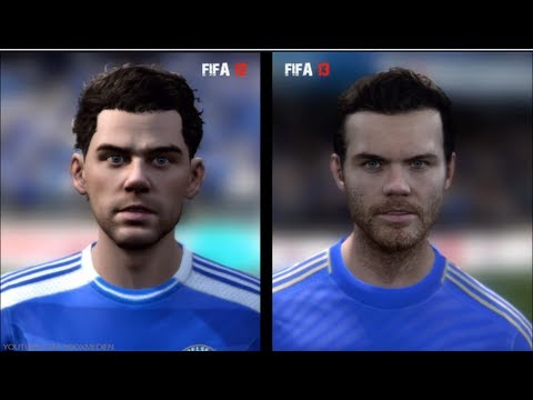 FIFA 12 vs FIFA 13: Player Faces (Chelsea Player Faces FIFA 13 and FIFA 12 Comparison) xboxmedien
