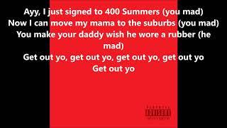 YG - Get Out Yo Feelins Lyrics