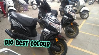 honda dio dlx 2018 | dio best colour | dio black gold colour | new dio| igneous black