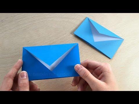 Origami Brief Falten Briefumschlag Basteln Mit Kindern Diy Kuvert