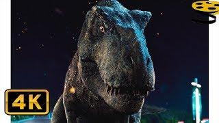 Тираннозавр Рекс и Блю против Индоминуса Рекса(Финальная Битва)   Мир Юрского периода   4K ULTRA HD