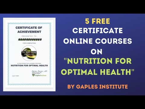 5 Free Certificates in 5 mins| Free Online Courses |Nutrition for ...