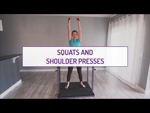 Squats and Shoulder Presses