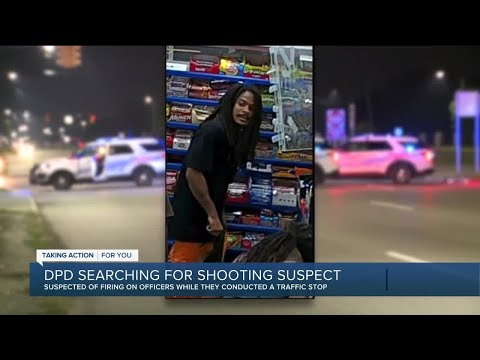 Man wanted for targeting Detroit police officers in shooting