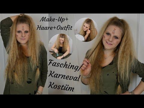 Kostüm Kriegerin - Make-Up + Haare + Outfit | Idee | Fasching | Karneval | Katherina Kathi