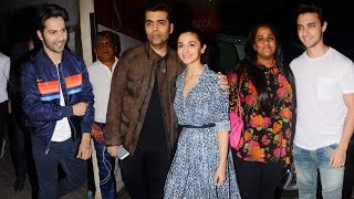 Badrinath Ki Dulhania Movie Special Screening | Varun Dhawan, Alia Bhatt, Karan Johar, Arpita Khan