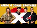 Jonas Brothers ft. Karol G - X (Lyrics Video)