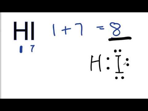 how to draw lewis dot structure for hf