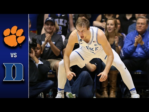 Clemson vs. Duke Men's Basketball Highlights (2016-17)