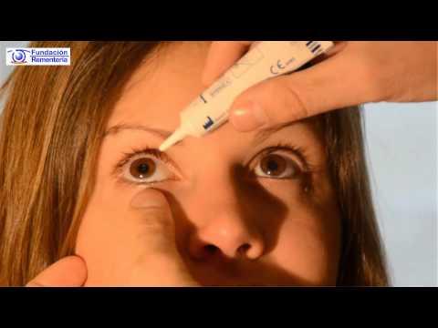 Como ponerse una pomada en el ojo | Fundación Rementería