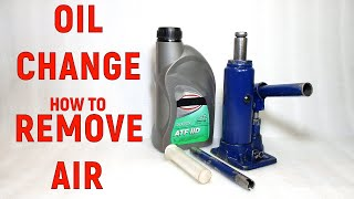 How to change oil in hydraulic bottle jack. How to remove air from hydraulic jack