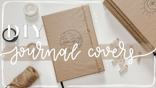 CUTE KRAFT PAPER JOURNAL COVERS | How To Make A Journal Cover