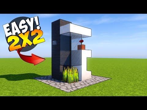 minecraft 2x2 modern house tutorial smallest minecraft house ever - Smallest House In The World Minecraft