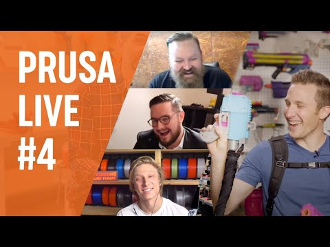 PRUSA LIVE #4 - 3D printed Nerf blasters with OutOfDarts!
