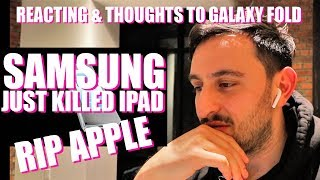 APPLE FANBOY REACTS TO GALAXY FOLD