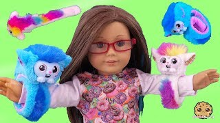 Wrapples Interactive Animals ! American Girl Doll with Fun Little Live Pets