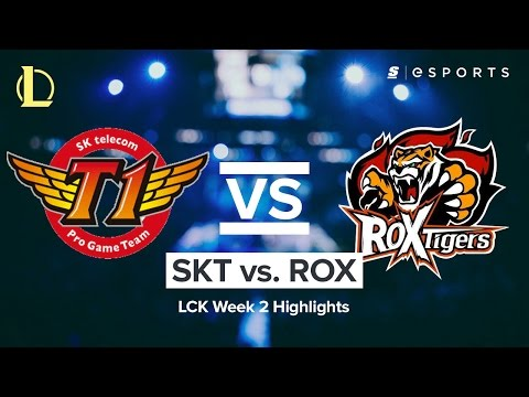 Highlights: SK Telecom T1 vs ROX Tigers (2017 LCK Spring)