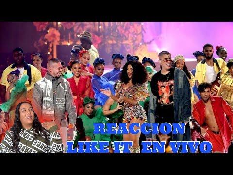 Cardi B, Bad Bunny & J Balvin - I Like It [2018 American Music Awards] reaccion
