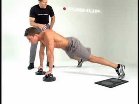 SOFT GRIP PUSH UP BARS w// NON-SLIP RUBBER FLOOR PADS Fitness Exercise