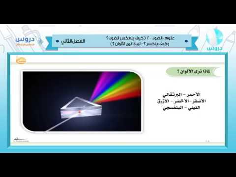 خامس ابتدائي|الفصل الدراسي الثاني 1438 | علوم | |كيف ينعكس لبضوء وكيف ينكسر