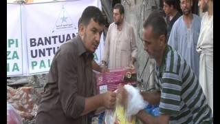 Proses Distribusi Bantuan FPI Peduli Gaza Palestina